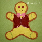 Gingerbread Man Applique Block