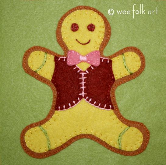 Gingerbread Man Applique Block