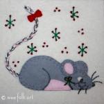 Little Mouse Applique Block