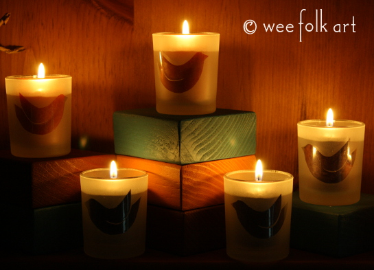 FAUX ETCHED glass CANDLE HOLDERS project