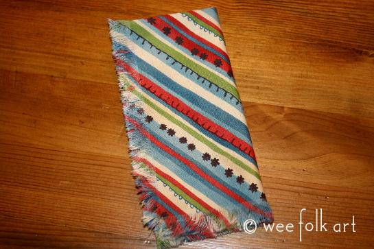 toy kitchen napkin pattern
