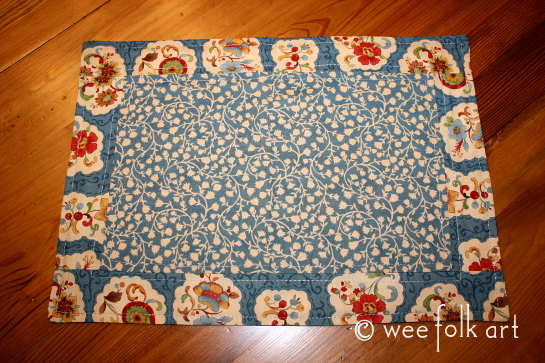 toy kitchen placemat pattern