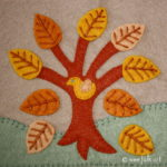 Autumn Tree Applique Block