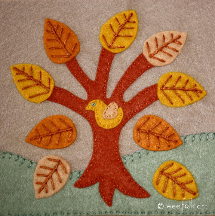 Autumn Tree Applique Block