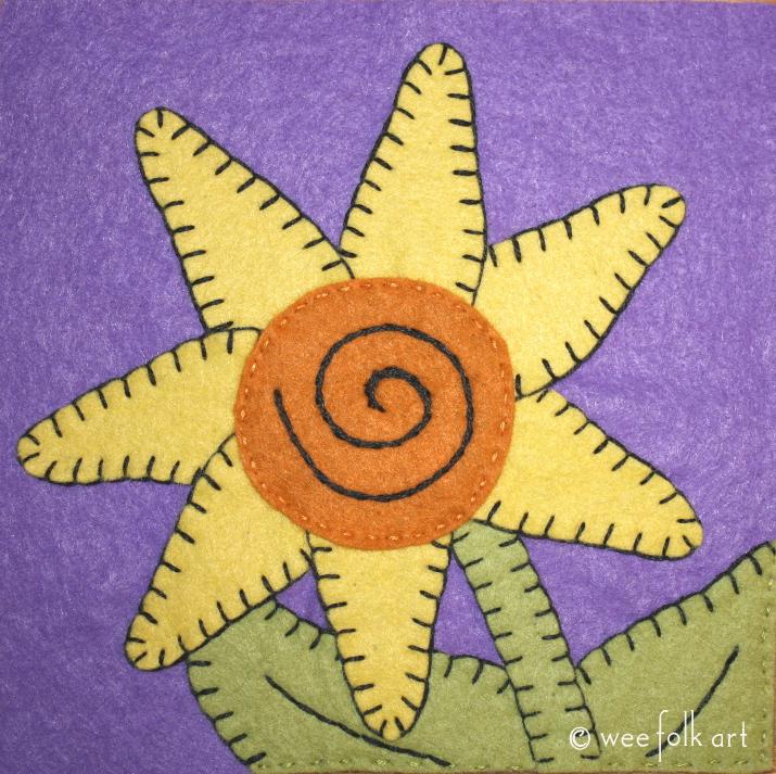 sunflower applique pattern