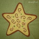 Gingerbread Star Applique