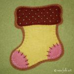 Gingerbread Stocking Applique Block