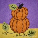 Stacked Pumpkins Applique Block