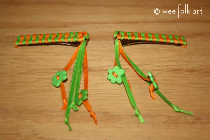 Ribbon Braided Barrette Tutorial