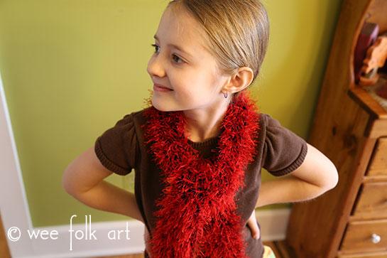 fuzzy boa knitting pattern