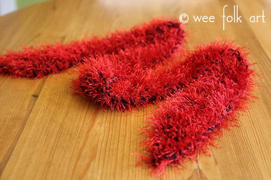 Fuzzy Boa Scarf knitting pattern