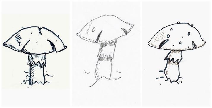 Drawing Mushrooms Wee Folk Art