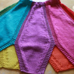 Knit Rainbow Petal Skirt