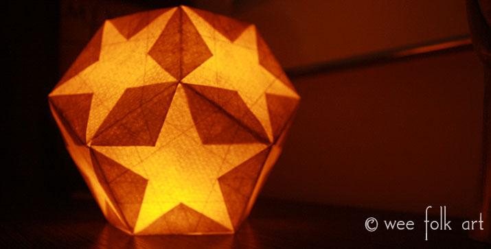 Watercolor Paper Star Lantern