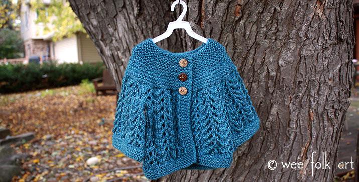 February Baby Sweater Wee Folk Art