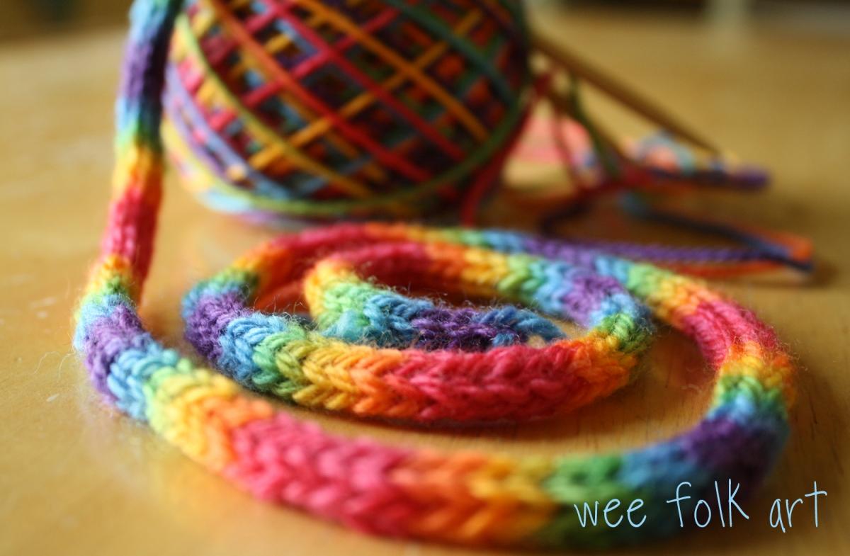 Rainbow Yarn Wallpaper Wee Folk Art