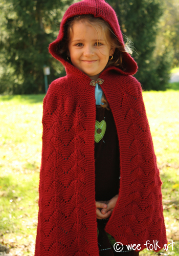 Diy Kids Little Red Riding Hood Cape From Paper