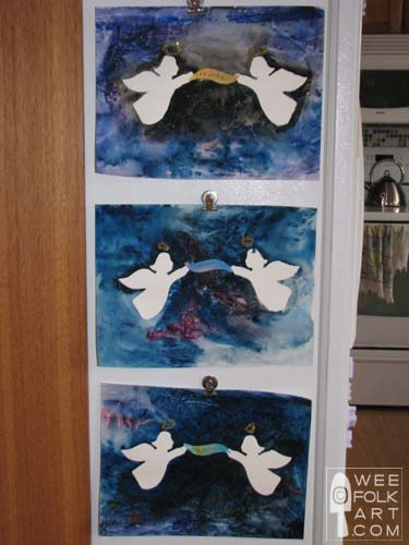 Rejoicing Angels Watercolor Painting Directions