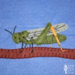 Grasshopper Applique Block
