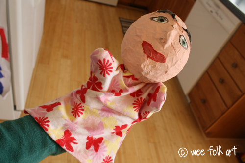 Paper Mache Puppets Part Two Making The Body Wee Folk Art