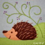 Hedgehog Applique Block