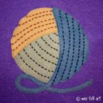 Newbie Knitting | Yarn Ball Applique Block