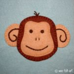 Monkey Face Applique Block
