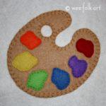 Painter's Palette Applique Block