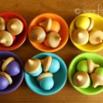 Wooden Acorns Craft and Sorting Bowls