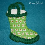 Rain Boot Applique Block