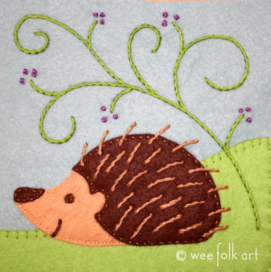 Converting Our Hedgehog Applique Into A Hedgehog Embroidery Wee