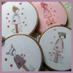 Three Girls In Hats Embroidery Project