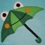 Froggie Umbrella Coloring Page