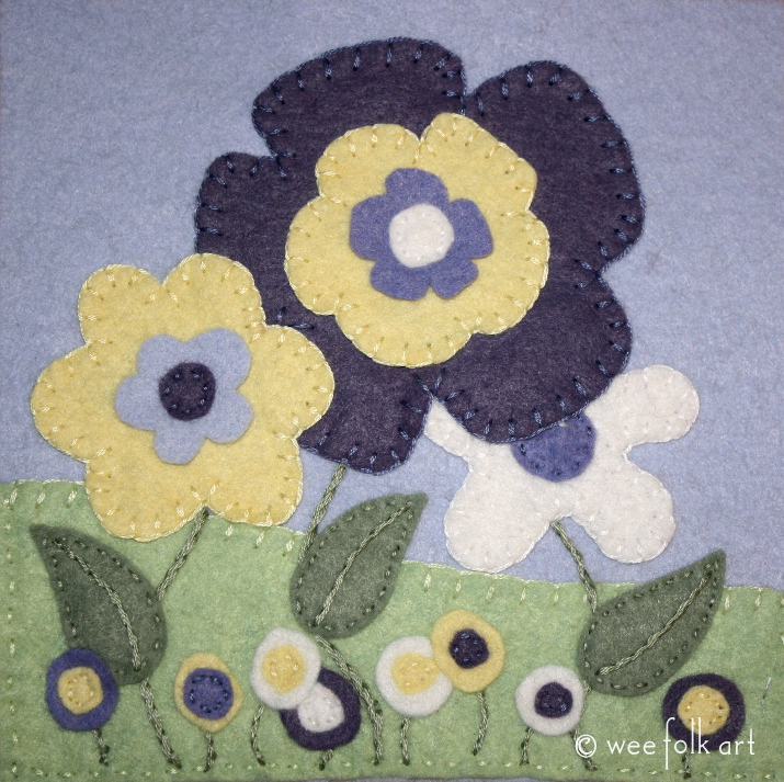 spring flowers applique pattern