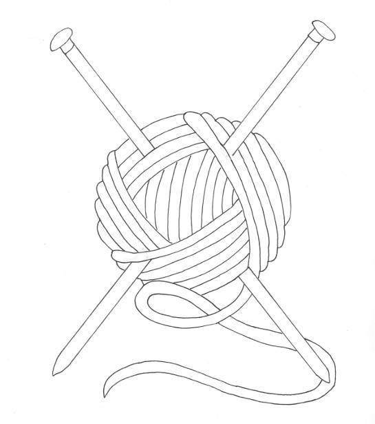 Ball of Yarn Coloring Page - Wee Folk Art