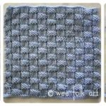 Learn-to-Knit Afghan Block Three