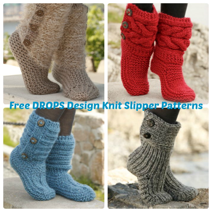 Drops Design Free Knit Slipper Patterns Wee Folk Art