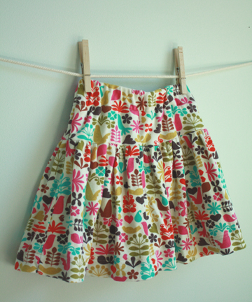 Quick and easy girl skirt.
