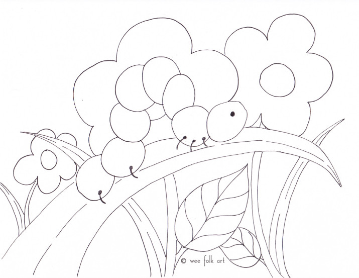 inchworm coloring page inchworm coloring page wee folk art