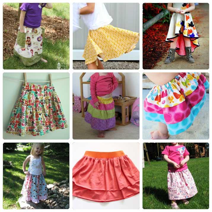 Free Girl\'s Skirt Patterns to Sew - Wee Folk Art