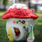 Jzin's Washing Machine Wet-Felting Technic: Toadstool Cottage
