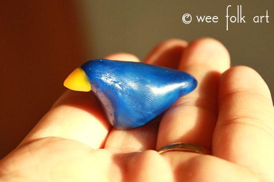 modeling beeswax bird