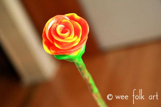 modeling beeswax flower tutorial