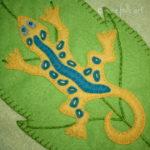 Lizard Applique Block