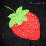 Strawberry Applique Block