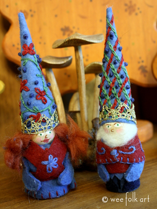 The King And Queen Of The Gnomedom Wee Folk Art
