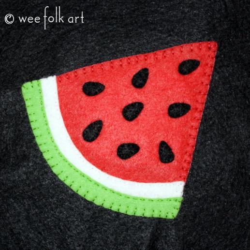watermelon applique pattern