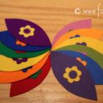Rainbow Wool Felt Balls