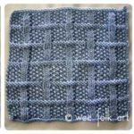 Learn-to-Knit Afghan Block Four
