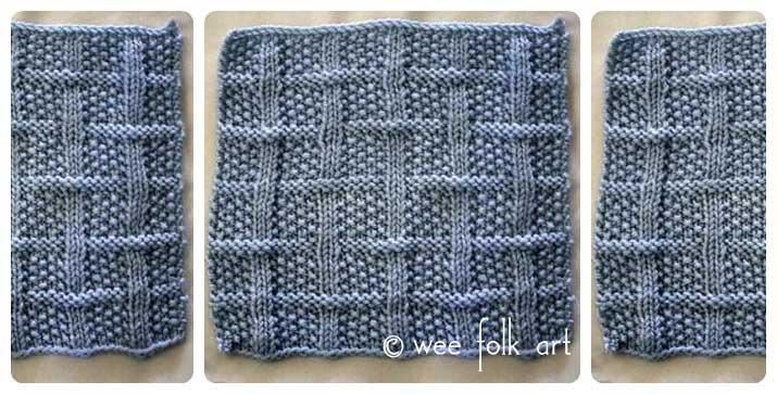 Learn To Knit Afghan Block Four Wee Folk Art